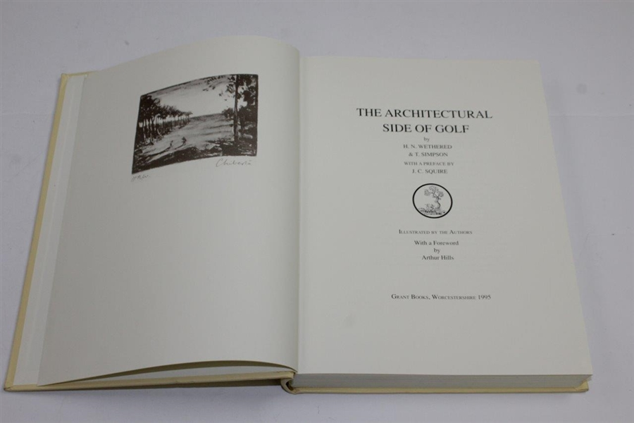 1995 The Architectural Side of Golf Signed Ltd Numbered Edition Book #319/565