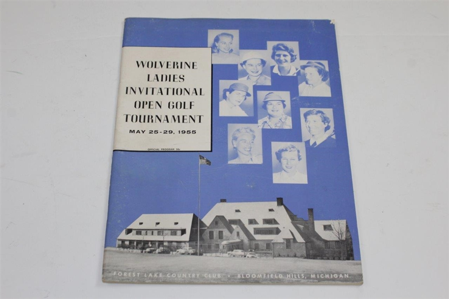 1955 Wolverine Ladies Inv. Open golf Tournament at Oakland Hills Program with Info Sheets