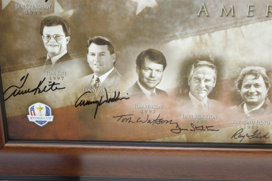 America's Ryder Cup Captains Multi-Signed Canvas Print - Arnie, Jack, Tom, & more JSA ALOA