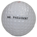 Dwight D. Eisenhower Personal Mr. President Logo Golf Ball - Rod Munday Collection