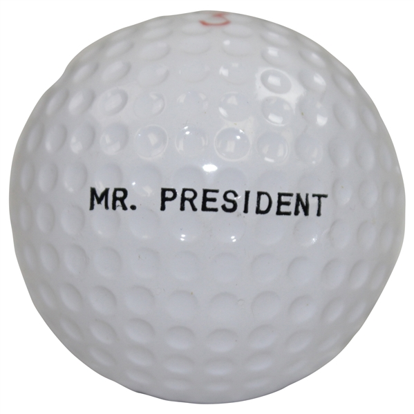 Dwight D. Eisenhower Personal 'Mr. President' Logo Golf Ball - Rod Munday Collection