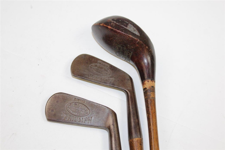 Schmelzer's Sporting Goods Triumph Child's Putter, Iron, & Driver in Plaid Golf Bag