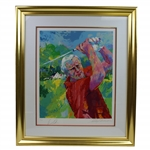 Arnold Palmer Signed Ltd Ed Serigraph #2/125 Printers Proof Also Signed by Artist LeRoy Neiman JSA ALOA