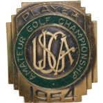 1954 US Amateur at Country Club of Detroit Contestant Badge - Arnold Palmer Winner