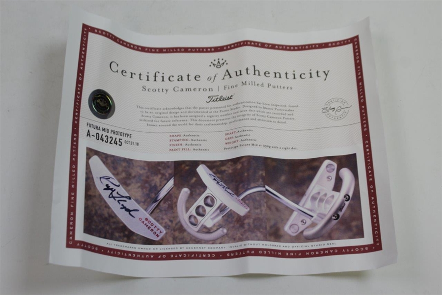 Ray Floyd Signed Scotty Cameron Futura Putter Made for Ray with Scotty COA & JSA ALOA