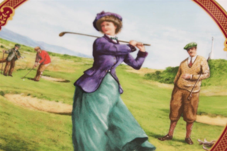 Golfing Collection 'Ladies Day' Ceramic Plate by Royal Worcester - Artist Melvyn Buckley