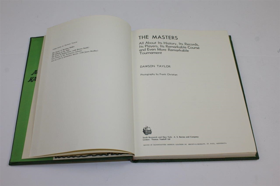 1973 First Edition 'The Masters: Profile of a Tournament' by Dawson Taylor