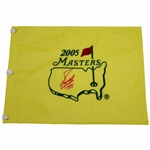 Fuzzy Zoeller Signed 2005 Masters Embroidered Flag with 1979 JSA ALOA