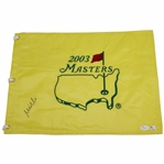 Mike Weir Signed 2003 Masters Embroidered Flag JSA #P94935