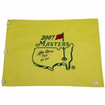 Gay Brewer Signed 2007 Masters Embroidered Flag with 1967 & 40th JSA #P94953