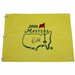 Ray Floyd Signed 2006 Masters Embroidered Flag JSA #P94963