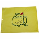 Tommy Aaron Signed 2007 Masters Embroidered Flag with 1973 JSA ALOA