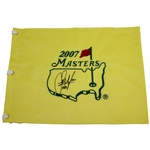 Sandy Lyle Signed 2007 Masters Embroidered Flag with 1988 JSA ALOA