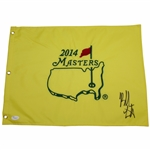 Bubba Watson Signed 2014 Masters Embroidered Flag JSA #V87390