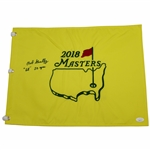 Bob Goalby Signed 2018 Masters Embroidered Flag with 68 & 50yrs JSA #EE84779
