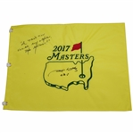 Jim Nantz Signed 2017 Masters Flag with A Tradition Unlike Any Other, The Masters JSA ALOA