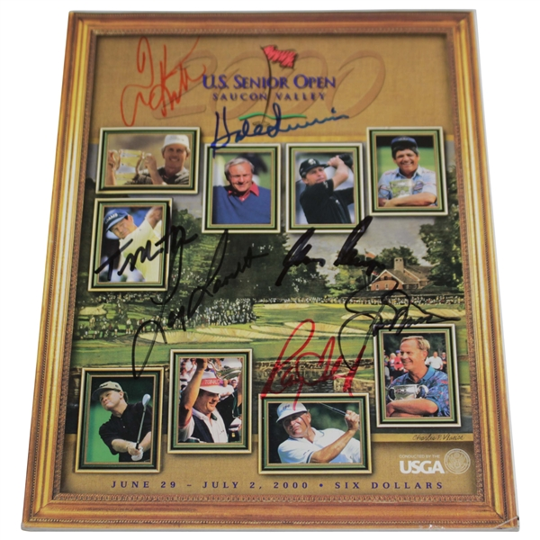 Nicklaus, Player, Watson, & others Signed 2000 US Senior Open at Saucon Program JSA ALOA