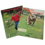 Billy Casper & George Archer Signed 1961 & 1969 Sports Illustrated Magazines JSA ALOA