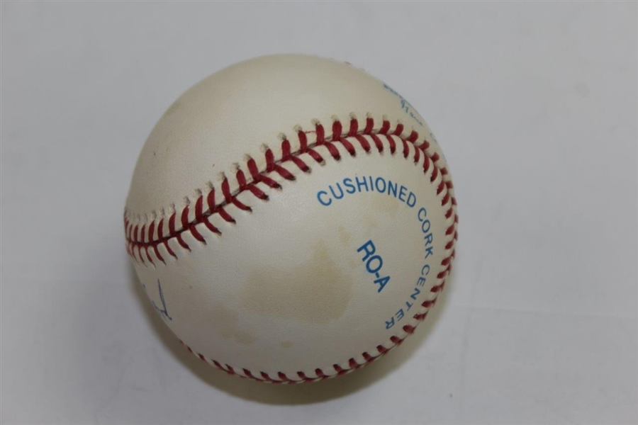 President Gerald Ford Signed Rawlings American League Baseball JSA ALOA