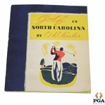 1938 Golf in North Carolina by O.B. Keeler with Letter to Otto Probst Signed by Keeler JSA ALOA