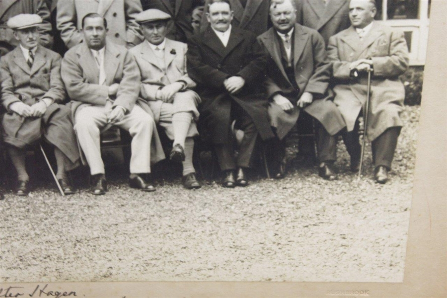 1929 Original Photo of Walter Hagen at Muirfield OPEN with Legends by Rushbrook Photo