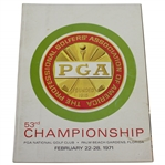 1971 PGA Championship at PGA National Golf Club Official Program - Jack Nicklaus Winner