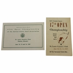 1947 US Open Championship at St. Louis Country Club Official Scorecard with Ticket Order Booklet