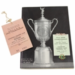 1953 US Open at Oakmont Country Club Official Program with Grounds Ticket - Ben Hogan Winner