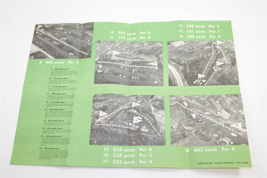 1953 Newsweek Presents Hole-by-Hole Pictorial Description of Oakmont CC Fold Out Booklet