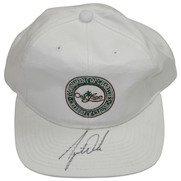 Tiger Woods Vintage Signed Tournament of Champions Celebrity Classics at Oak Lane Hat JSA ALOA