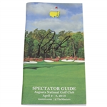 Patrick Reed Signed 2018 Masters Tournament Spectator Guide JSA ALOA
