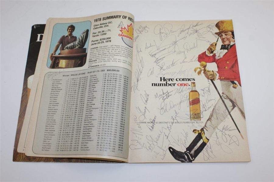 Jack Nicklaus Signed 1979 Canadian Open Program with Many Others JSA ALOA