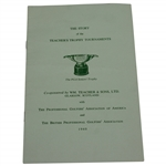 1960 The Story of the Teachers Trophy Tournaments Brochure/Program