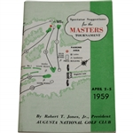 1959 Masters Tournament Spectator Guide - Art Wall Winner