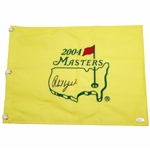 Phil Mickelson Signed 2004 Masters Embroidered Flag JSA #BB22130