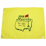 Tom Watson Signed Masters 2018 Flag with Years Won Inscription JSA FULL #BB42173