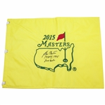 Ben Crenshaw Signed Masters 2015 Flag with Years Won Inscription & Final Masters JSA ALOA