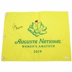 Jen Kupcho Signed 2019 Augusta National Womens Amateur Embroidered Flag JSA #HH12152