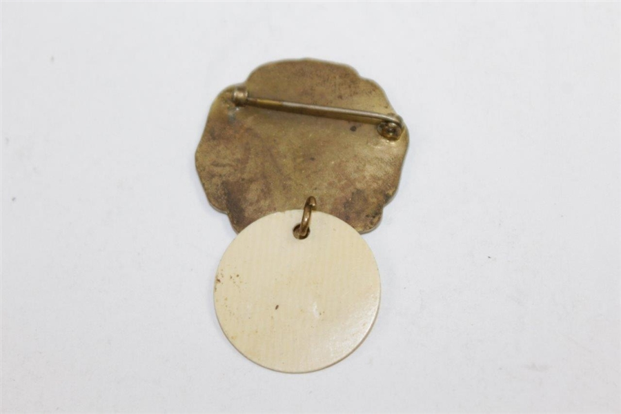 1926 US Open at Scioto Contestant Badge #64 - Bobby Jones' Open Victory