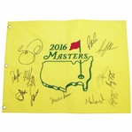 2016 Masters Embroidered Field Flag Signed by Eleven Stars JSA ALOA