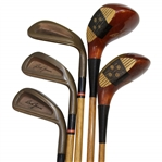 Callaway Bob Jones Commemorative Hickory Stick Woods & Irons - Ray Minella Owner Shaft Stamp