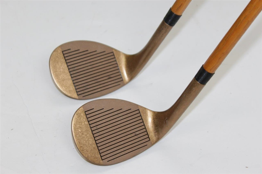 Callaway Steel Core Hickory Stick Third Wedge (Hi-Lob) & Second Wedge (Sand) with Shaft Stamps