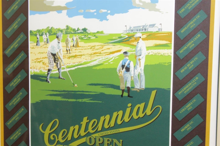 1995 Ltd Ed Centennial US Open at Shinnecock Hills Golf Club Ken Reed Poster #410/850 - Framed