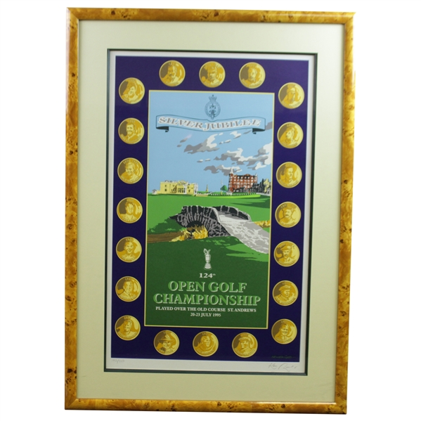 1995 OPEN Championship at St. Andrews Ltd Ed Ken Reed 'Silver Jubilee' Print #192/850 - Framed