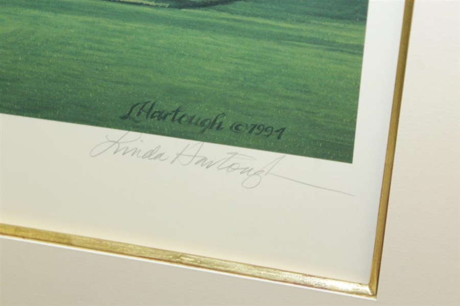 1995 Linda Hartough Signed Ltd Ed 16th Hole at Shinnecock Hills #36/850 - Framed