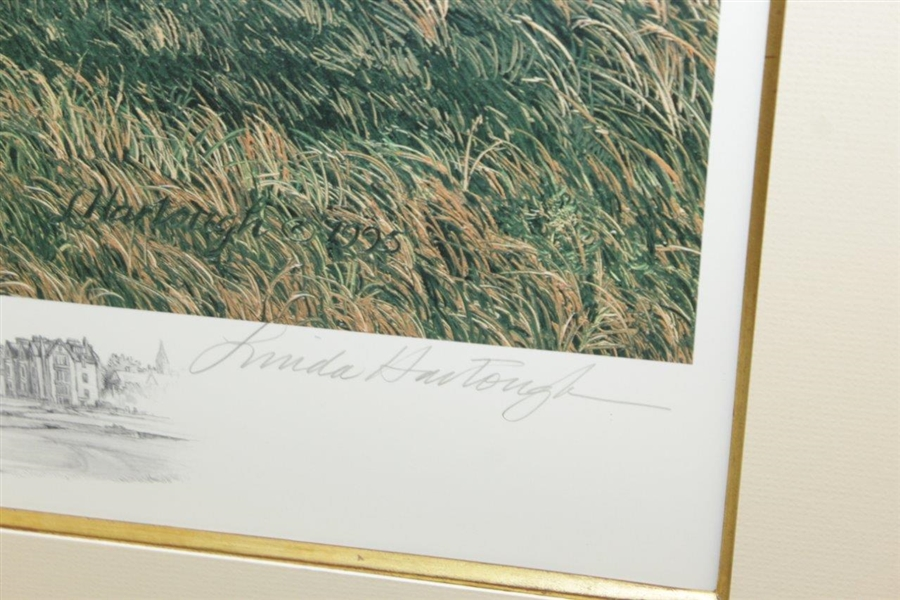 1995 Linda Hartough Signed Ltd Ed 14th Hole at Old Course St. Andrews AP #76/85 - Framed