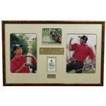 Tiger Woods Signed 1996 US Amateur at Pumpkin Ridge Sunday Ticket #4913 Display - Framed JSA ALOA