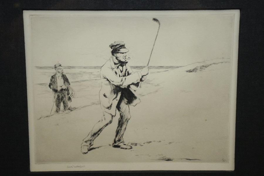 Sears Gallagher Original Drypoint Etching - Framed