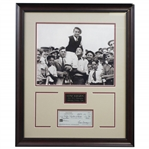 Gene Sarazen Signed Personal Check with 1922 PGA Champ Photo Display - Framed JSA ALOA