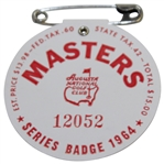1964 Masters Tournament SERIES Badge #12052